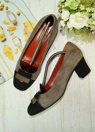 Donna soft. италия. замша. красивые туфли на удобном каблучке