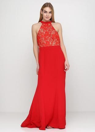 Шикарное вечернее красное платье jarlo.