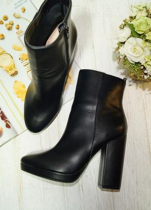 H&m. красивые сапоги на массивном каблуке