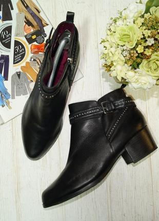 Tamaris. германия. кожа. стильные ботинки на удобном каблуке