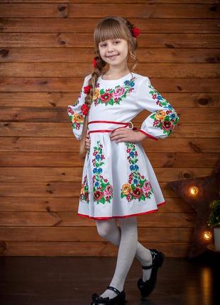 Очаровательное платье - вышиванка для девочки