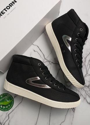 Tretorn кроссовки хайтопы черные бренд оригинал из сша