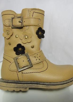 Красивейшие кожаные деми сапожки ботинки blox р. 24 (15,5см)