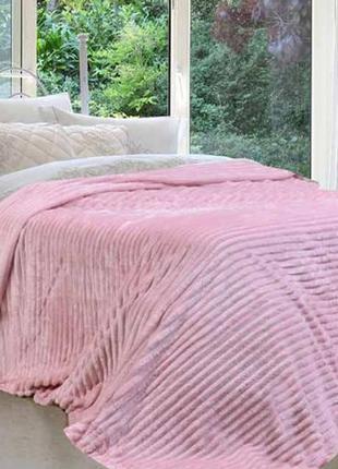 Розовый плюшевый плед покрывало 200х180