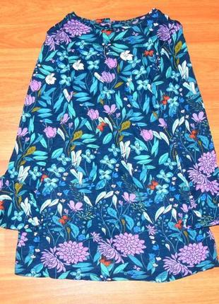 Туника в цветы,платье,кофта next,некст, 8-9 лет, 134