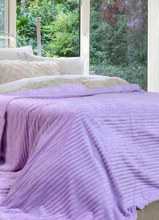 Фиолетовый плюшевый плед покрывало 200х180