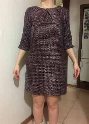 Платье casual, тёплое{осень/весна}, твид