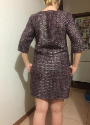 Платье casual, тёплое{осень/весна}, твид2 фото