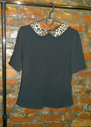 Обновка на весну! блуза топ кофточка с контрастным воротником zara