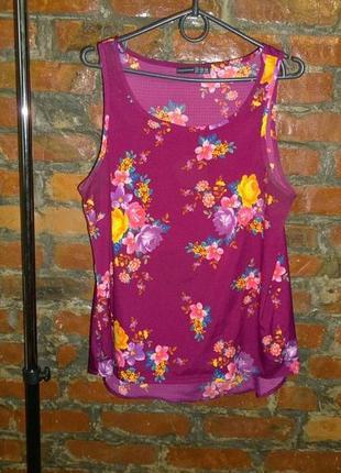 Блуза топ кофточка с цветочным принтом atmosphere