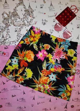 Цветочная юбка miss selfridge мини обтягивающая