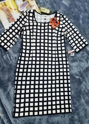 Нарядное платье клетка миди iren klaire сукня