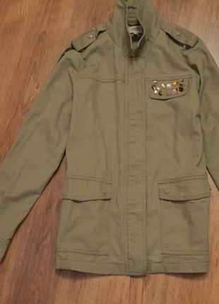 Легкая куртка papaya цвета хаки