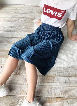 Велюровые юбки плиссированные