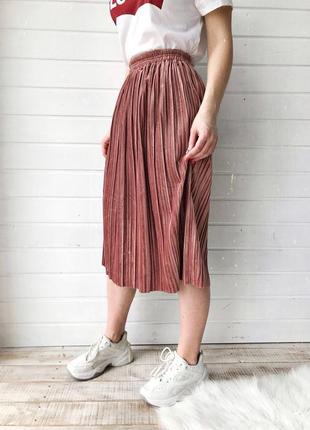 Велюровые юбки плиссированные3