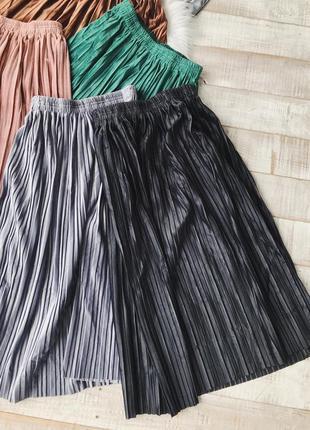 Велюровые юбки плиссированные8