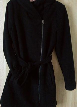 Кашемірове пальто-косуха