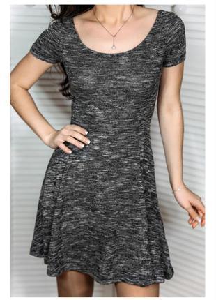 Платье xs-s серое с открытой спинкой