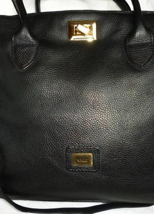 Шикарная большая сумка натуральная кожа medici германия