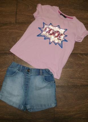 Летний набор george на 5-6 лет футболка с шортами