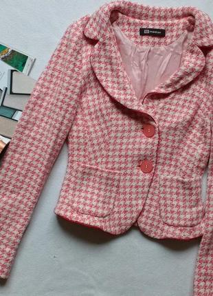 """Красивый приталенный пиджак / жакет в """"гусиную лапку"""" """"monton"""""""