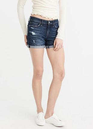 Стильные джинсовые шорты с потертостями 48-50 размер.  abercrombie & fitch