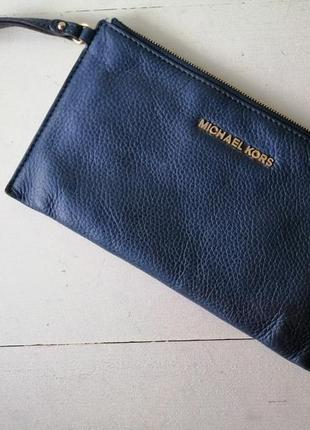 Michael kors кожаная сумочка клатч, органайзер, кошелёк