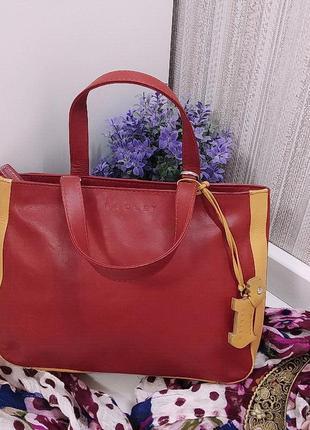 Яркая сумка radley, лондон, натуральная кожа