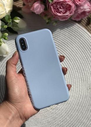 Нежный силиконовый чехол на айфон iphone x/ xs