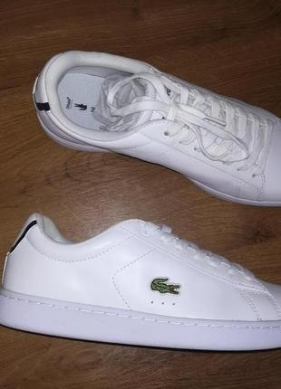 Кожаные кроссовки lacoste carnaby bl 1
