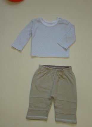 Комплект малышу 1-3 мес штанишки штаны  + реглан