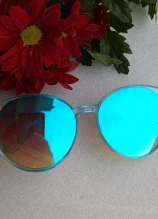 New 2019! новые крутые очки, голубые зеркальные