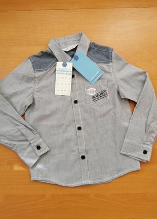 Рубашка под джинс 2-4 года