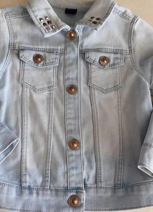 Джинсовый пиджак zara 2-3 года