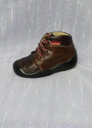 Лёгкие удобные кожаные ботинки для крошки 🐁sh
