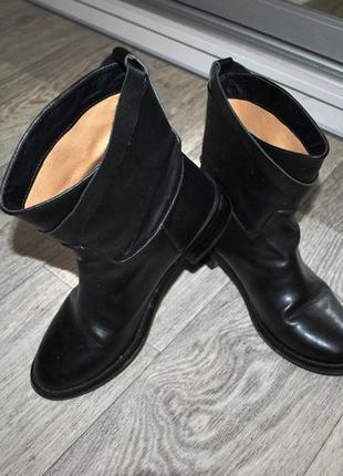Ботинки черные демисезон 37 кожаные натуральная кожа модные стильные