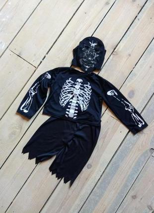 Карнавальный костюм демон скелет зомби 7-8 на хэллоуин