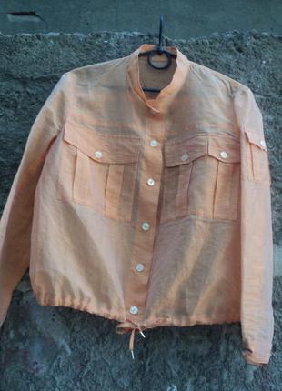 Оранжевый топ из органзы, топ-рубашка, блуза, легкая блуза на выпускной, накидка