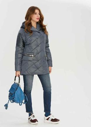 Скидка! демисезонная атласная куртка с капюшоном серая, синяя, марсала, изумрудная