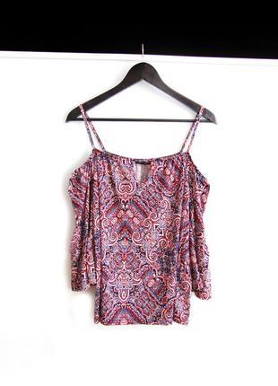 Блузка топ amisu с открытыми плечами