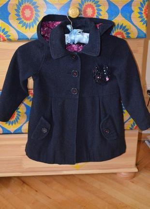 Красивое шерстяное пальто marks & spencer