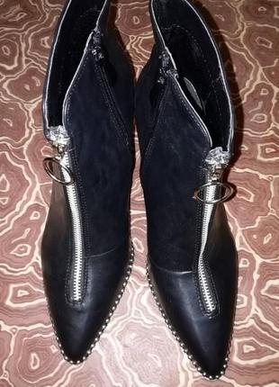 Ботинки челси с трендовим кольцом обувь mannika