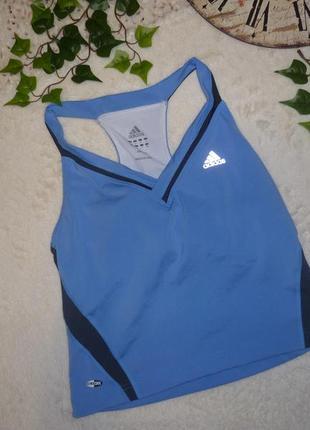 Легкая майка для фитнеса adidas (р.m) с топом