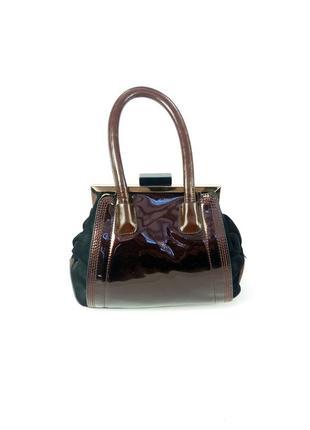Небольшая лаковая сумочка velina fabbiano