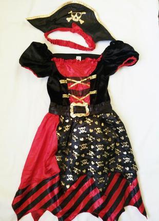 Платье пиратки, разбойницы 8-9 лет