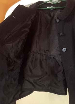 Актуальное пальто-манто с оборками,очень большого размера3