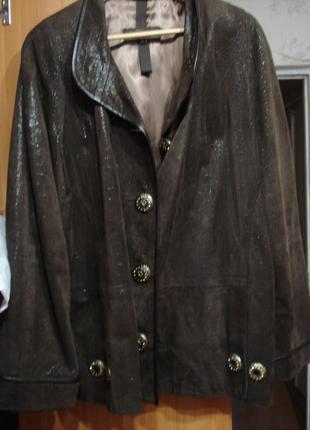 Куртка , натуральная лазерная кожа, на женщину пышных форм. 20-22-24 и больше