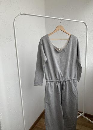 Комбинезон 100 % cotton серого цвета спортивный