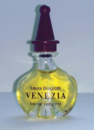 Духи venezia laura biagiotti.едт 5 мл.оригинал.винтаж.