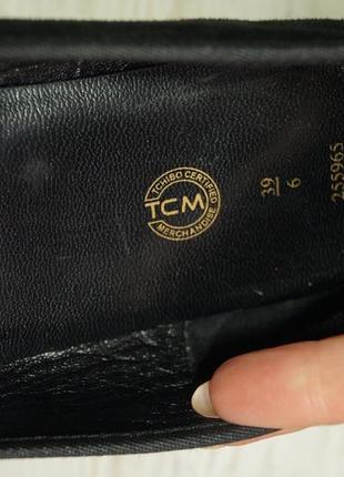 Tcm. кожа. комфортные базовые туфли на низком ходу5 фото